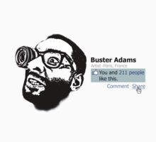 WHITE* Facebook Buster Adams - You and 211 people like this.  by busteradams