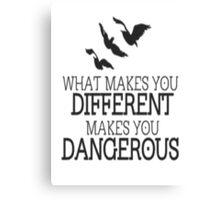 Divergent different quote Canvas Print