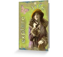 Explore Life - mixed media  Greeting Card