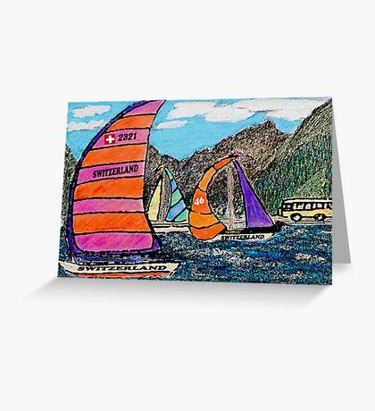 Swiss Sail Greeting Card