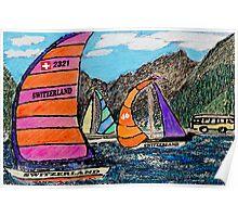 Swiss Sail Poster