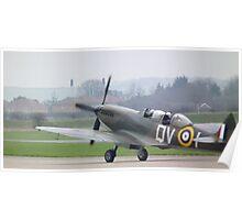 Spitfire 2 seater(seen at IWM Duxford) Poster