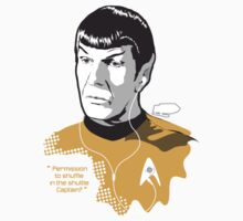 "SPOCK ""Permission to shuffle in the shuttle Captain?"" by godgeeki"