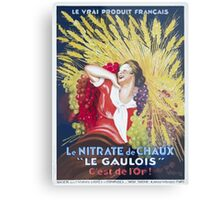Leonetto Cappiello Affiche Nitrate Le Gaulois Metal Print
