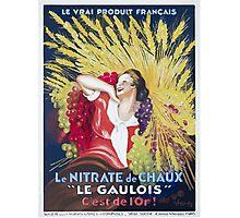 Leonetto Cappiello Affiche Nitrate Le Gaulois Photographic Print