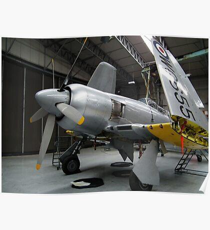 Hawker Sea Fury(WG655) Poster