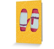 Christmas Mitts Greeting Card