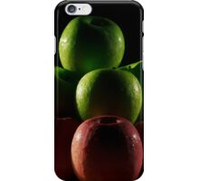 Apples red and green with low key lighting. iPhone Case/Skin
