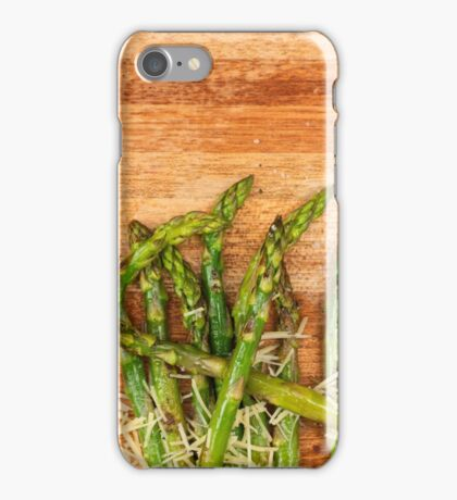 Grilled asparagus and parmesan cheese. iPhone Case/Skin