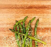 Grilled asparagus and parmesan cheese. by Rob D