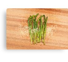 Grilled asparagus and parmesan cheese Canvas Print