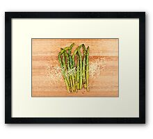 Grilled asparagus and parmesan cheese Framed Print