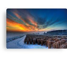 A Frosty Yorkshire Sunset Canvas Print