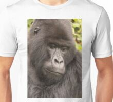 Close-up of silverback looking down in forest Unisex T-Shirt