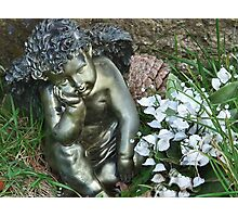 Cherub In The Churchyard Photographic Print