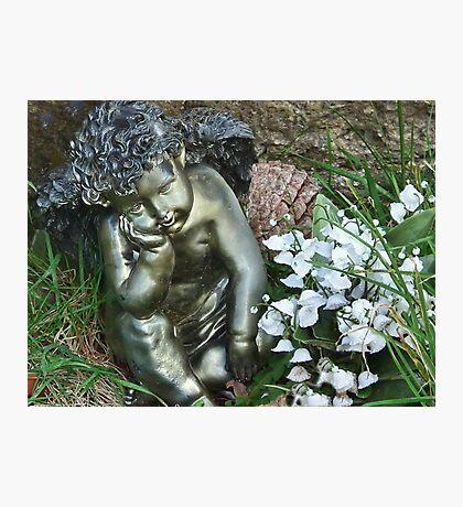 Cherub In The Churchyard Photographic Print