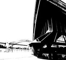 opera forecourt black and white by judewatson