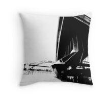 opera forecourt black and white Throw Pillow