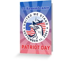 American Eagle Flag Twin Tower Patriot Day 9-11 Greeting Card