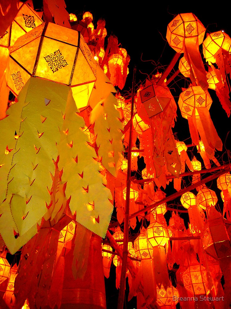 """Thai New Year Lanterns"" Chiang Mai, Thailand by Breanna Stewart"