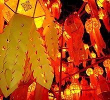 """""""Thai New Year Lanterns"""" Chiang Mai, Thailand by Breanna Stewart"""