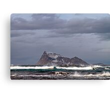 Waves in the arctic Canvas Print