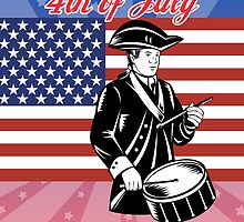 American revolutionary drummer flag 4th of July by patrimonio