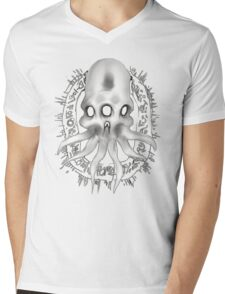 Alien Skull G Mens V-Neck T-Shirt