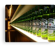 One green bottle... Canvas Print