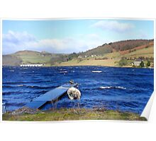 Windy Day on Ladybower Poster