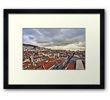 Lisbon... from the rooftops Framed Print
