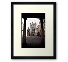 Arches Of History In Bath, England Framed Print