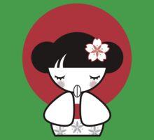 Pray for Japan Kokeshi Doll Kids Clothes