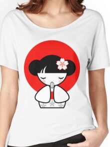 Pray for Japan Kokeshi Doll Women's Relaxed Fit T-Shirt