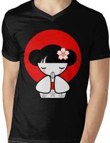 Pray for Japan Kokeshi Doll Mens V-Neck T-Shirt