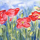 Poppies by Caroline  Lembke