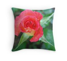 Ruby Red sparkler Throw Pillow
