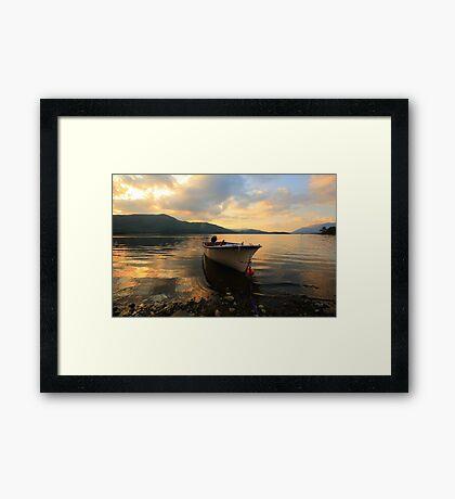 Sunset over Derwentwater Framed Print