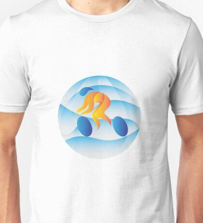 Cyclist Riding Cycling Racing Circle Retro Unisex T-Shirt