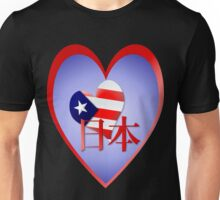 American Love and Support For Japan Unisex T-Shirt