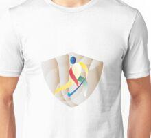 Field Hockey Player Shield Retro Unisex T-Shirt
