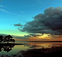Sunrise At Nudgee Beach. Brisbane, Queensland, Australia. (3) by Ralph de Zilva