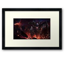 Dragon Slayer Pantheon - League of Legends Framed Print