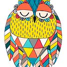 Aztec Owl Illustration by Pip Gerard