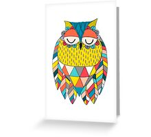 Aztec Owl Illustration Greeting Card