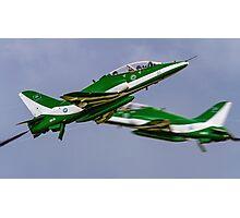 Saudi Hawks en Passant Photographic Print