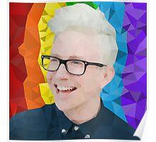 Tyler Oakley Low Poly Portrait  Poster