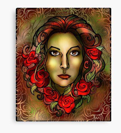 Roses in her Hair Canvas Print