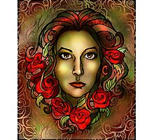 Roses in her Hair Photographic Print