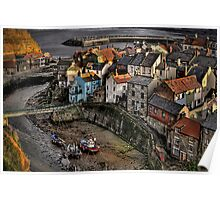 Staithes from Cowbar Poster
